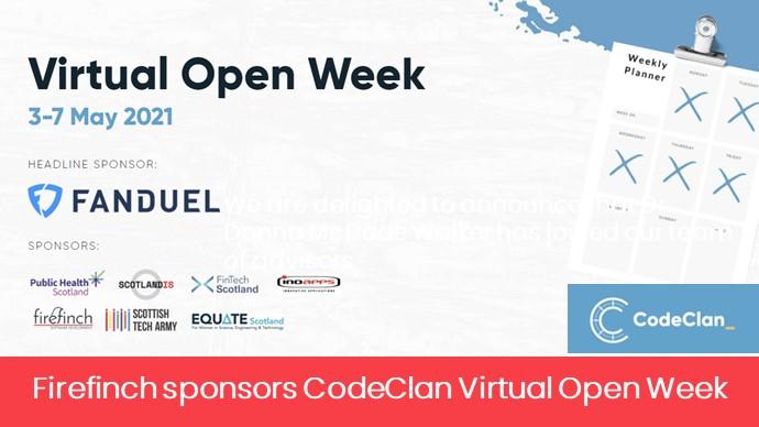 Firefinch Sponsors Code Clan Virtual Open Week